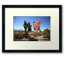 Route 66 - Hill Top Motel Framed Print