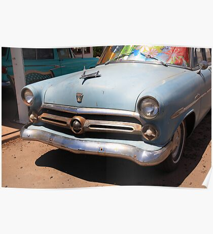 Route 66 Classic Car Poster