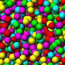 cute colorful balls in 3d by nadil