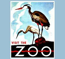 Visit the Zoo, herons, vintage retro WPA Unisex T-Shirt