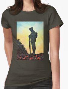 We Will Remember Womens Fitted T-Shirt