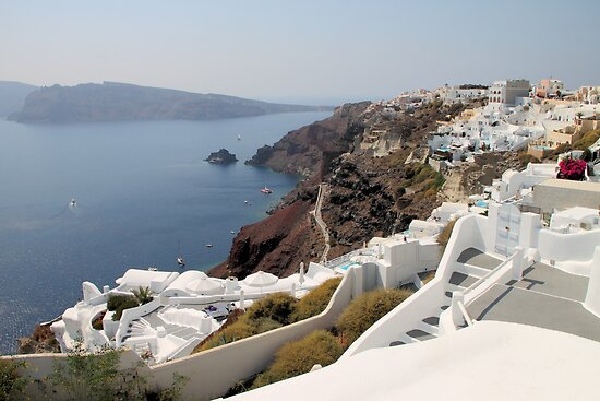 Overview of the Village of Oia, Santorini by Carole-Anne