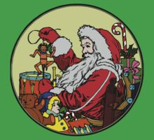 Vintage Santa and lots of toys (full color) One Piece - Short Sleeve
