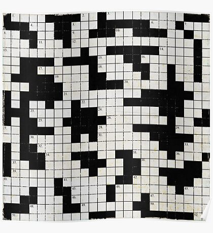 black and white puzzle Poster