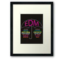 Electronic Dance Music (black) Framed Print