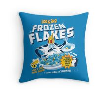 Frozen Flakes Throw Pillow