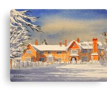 Griffin House School Snowy Day Canvas Print