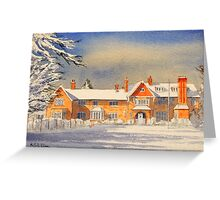 Griffin House School Snowy Day Greeting Card