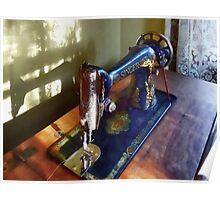 Vintage Sewing Machine and Shadow Poster