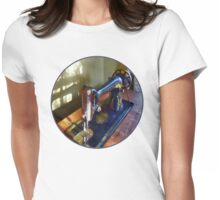 Vintage Sewing Machine and Shadow Womens Fitted T-Shirt