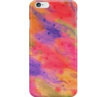 SEEING STARS 3 - Peach Pink Pretty Starry Sky Abstract Watercolor Painting Lovely Feminine Pattern iPhone Case/Skin
