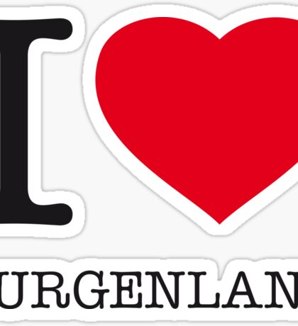 I ♥ BURGENLAND Sticker