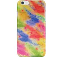 SEEING STARS 2 - Yellow Rainbow Pretty Starry Sky Abstract Watercolor Painting Feminine Pattern iPhone Case/Skin