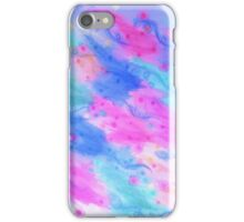 SEEING STARS 1 - Light Blue Pretty Starry Sky Abstract Watercolor Painting Lovely Feminine Pattern iPhone Case/Skin