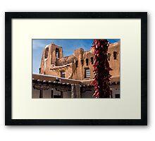 Adobe Courtyard Framed Print