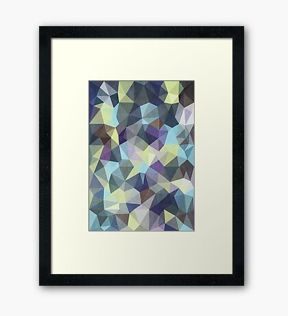 Abstract Geometric Polygon Woods Framed Print