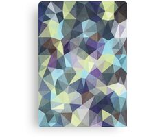 Abstract Geometric Polygon Woods Canvas Print