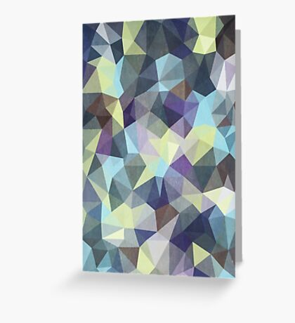 Abstract Geometric Polygon Woods Greeting Card
