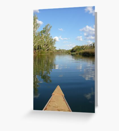 Gliding: Crossing Pool, Millstream Chichester National Park, Western Australia Greeting Card