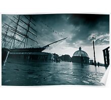 Stormy Cutty Sark Poster