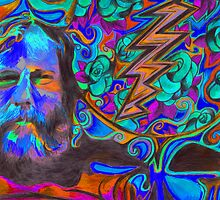"""""""Brent Mydland - Brent is  Blue"""" by Kevin J Cooper"""