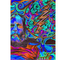 """""""Brent Mydland - Brent is  Blue"""" Photographic Print"""