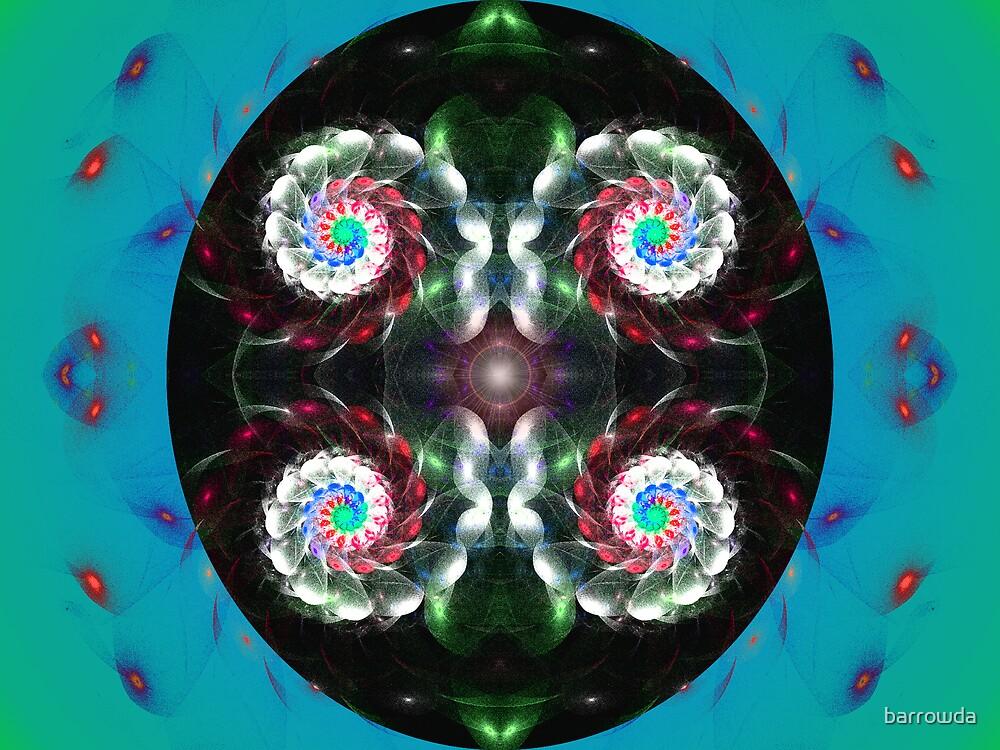 Tut50#1: Four White Spirals (G0996) by barrowda