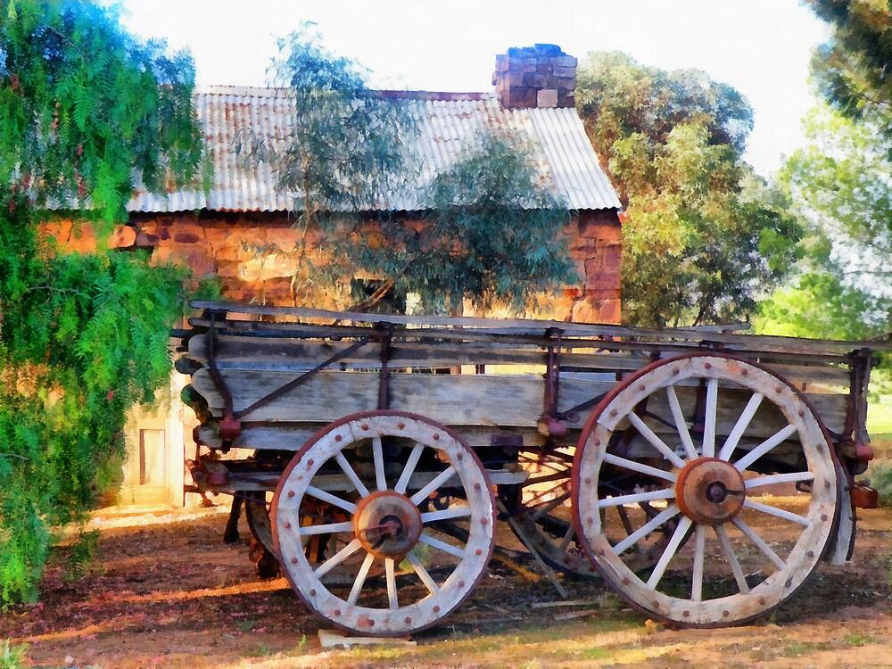 Outback Australian Scene by Elaine Game