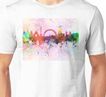 Kiev skyline in watercolor background Unisex T-Shirt