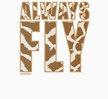 Animal Print Always Fly!!! REVISION™ Womens Fitted T-Shirt