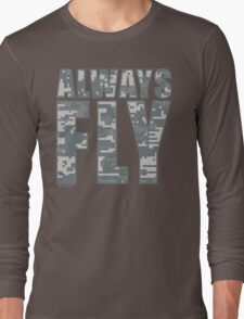 Pixcelated Always Fly Revision™ tee :D Long Sleeve T-Shirt