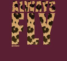 Animal Print! Always Fly tee :D Womens Fitted T-Shirt