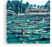 Breakfast in Tam Coc Canvas Print
