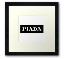 Piada - its a joke! parody tee Framed Print