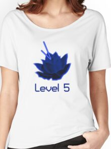 Level 5 Laser Lotus - Blue Women's Relaxed Fit T-Shirt