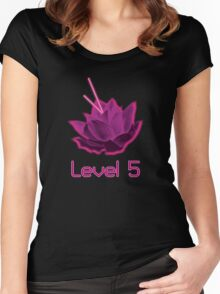 Level 5 Laser Lotus - Pink Women's Fitted Scoop T-Shirt