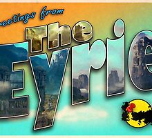 Greetings from The Eyrie (Parody tourism design) by greetingsfrom