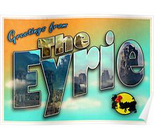 Greetings from The Eyrie (Parody tourism design) Poster