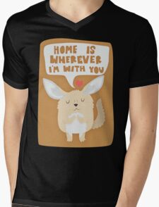 Fennec Fox - Home Is Wherever I'm With You Mens V-Neck T-Shirt