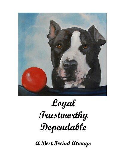 Pit Bull Loyalty List by SurfCityArt