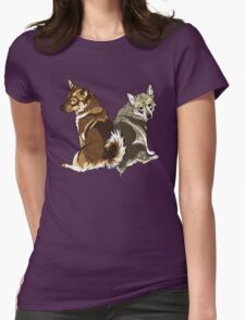 Vallhunds - Natural Colours Womens Fitted T-Shirt