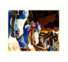 Carousel History Art Print