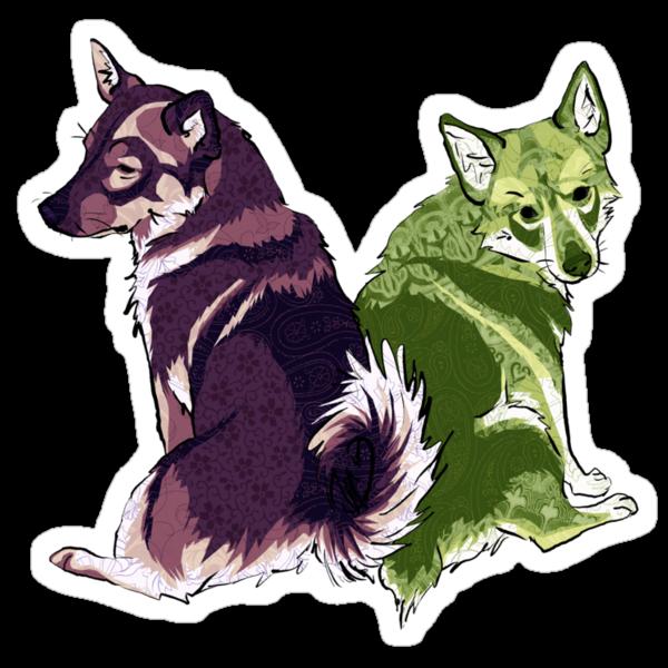 Vallhunds - Purple/Green by KatArtDesigns