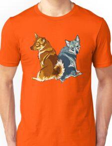 Vallhunds - Orange/Blue Unisex T-Shirt