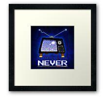 Retro TV - Better Late Than Never Videogames Framed Print