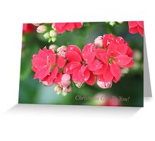 Christmas Gift Floral Greeting Card
