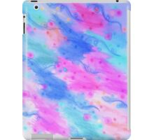 SEEING STARS 1 - Light Blue Pretty Starry Sky Abstract Watercolor Painting Lovely Feminine Pattern iPad Case/Skin