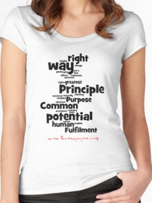 The Common Purpose Wordle (vertical) Women's Fitted Scoop T-Shirt