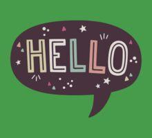 Hello Speech Bubble Typography Kids Tee