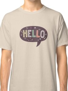 Hello Speech Bubble Typography Classic T-Shirt